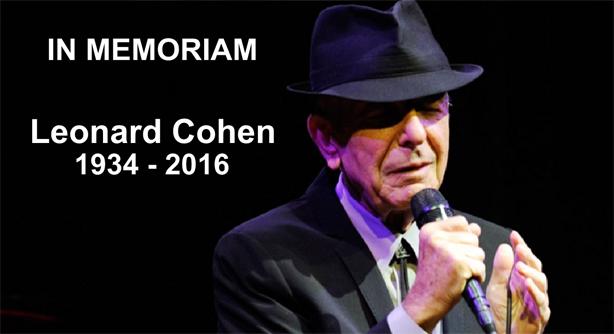 In Memoriam Leonard Cohen (1934 – 2016)