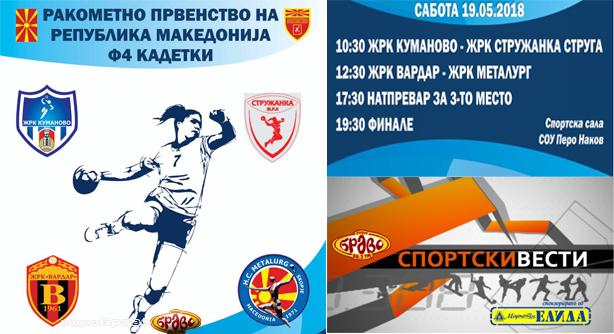 Финален фајнл фор турнир во кадетска конкуренција за ракометарки во Куманово