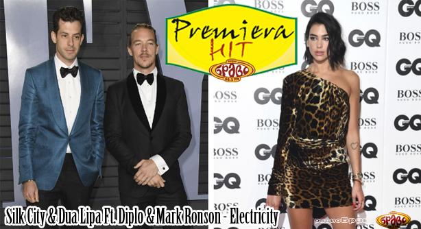 Premiera Hit Silk City & Dua Lipa Ft. Diplo & Mark Ronson - Electricity