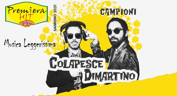 Premiera Hit Vtornik - 16 03 2021 - Colapesce Feat Dimartino – Musica Leggerissima